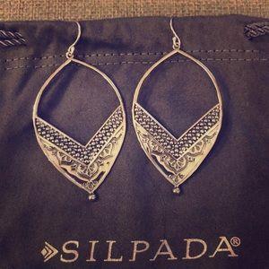 """Silpada """"Ornate"""" Open Drop Earrings"""